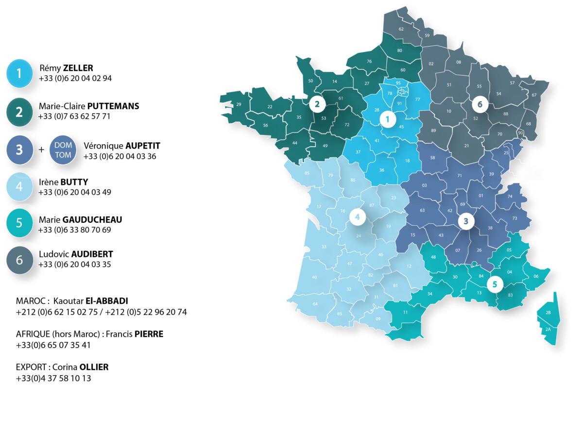 Nouvelle carte Raffin 2020 avec le numéro des commericaux